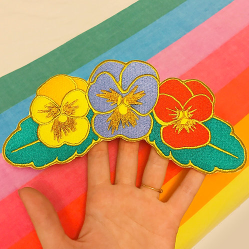 Primary Pansies Back Patch