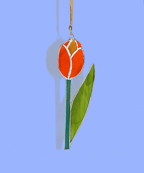 Tulip Stained Glass Suncatcher