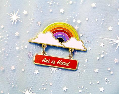 'Art Is Hard' Merit Lapel Pin