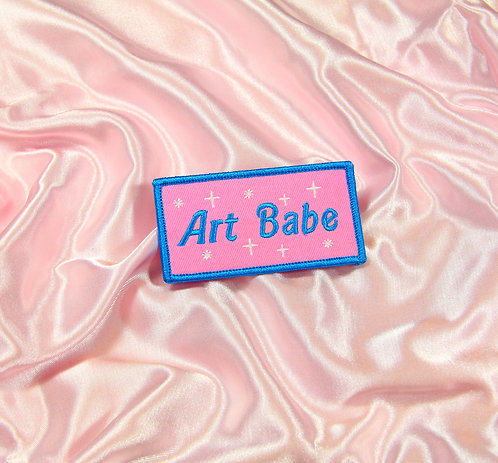 'Art Babe' Iron on Patch
