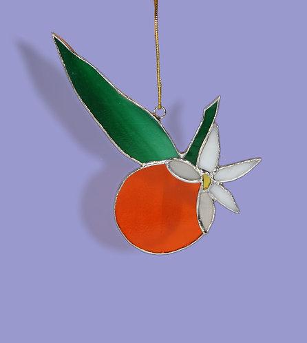 Orange Blossom Stained Glass Suncatcher