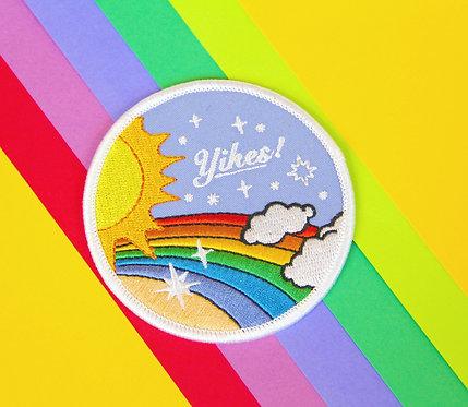 Yikes! Rainbow Iron-On Patch