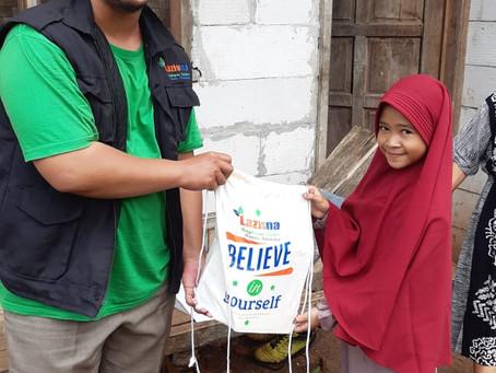 Rumah Sahabat LAZISNA Beri Perlengkapan Sekolah Baru Bagi Anak Yatim Binaan
