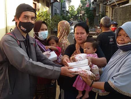 Relawan LAZISNA Salurkan Bantuan Untuk Korban Banjir Bekasi