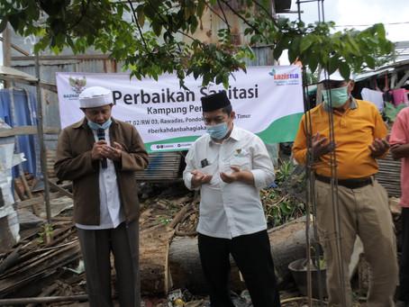 LAZISNA Sinergi Bersama BAZNAS Bazis DKI Jakarta Membangun Sanitasi Untuk Warga Kampung Pemulung