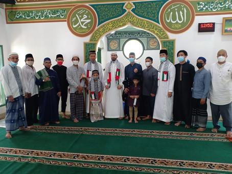 Safari Dakwah, LAZISNA Mengundang Langsung Syaikh palestina Untuk Jamaah Masjid Jami' Nurul Huda