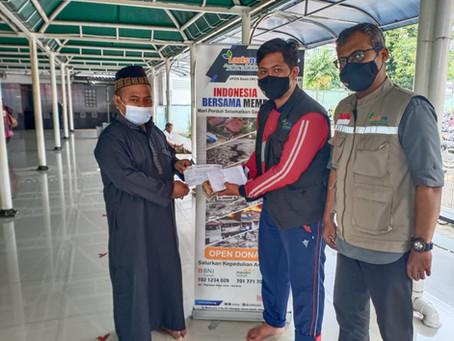 Jamaah Masjid At-Taubah Samsat Timur, galangan Donasi Untuk Bantuan Banjir Kalsel dan Gempa Sulbar