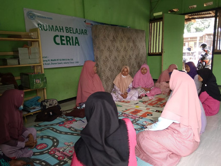 Taklim Ceria ! LAZISNA Bersama Ibu Ibu Kampung Rawadas