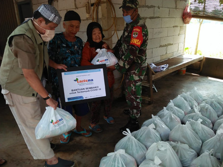 LAZISNA Distribusikan Paket Logistik Dimasa Pandemi