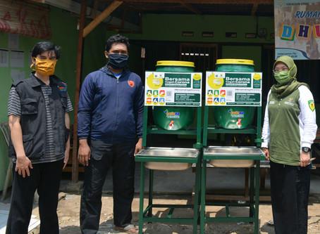 LAZISNA Salurkan Tempat Cuci Tangan Untuk Mustahik di Kampung Pemulung Rawadas