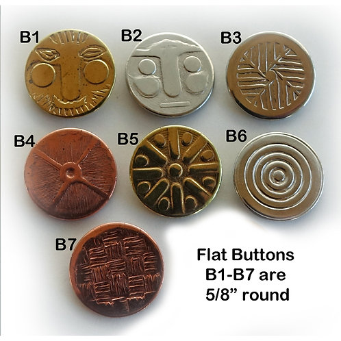 Flat Specialty Buttons