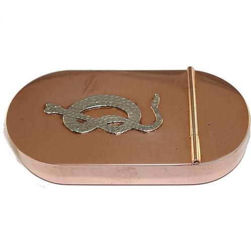 English Tobacco Box - Snake - Copper