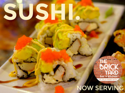 SUSHI NOW SERVING