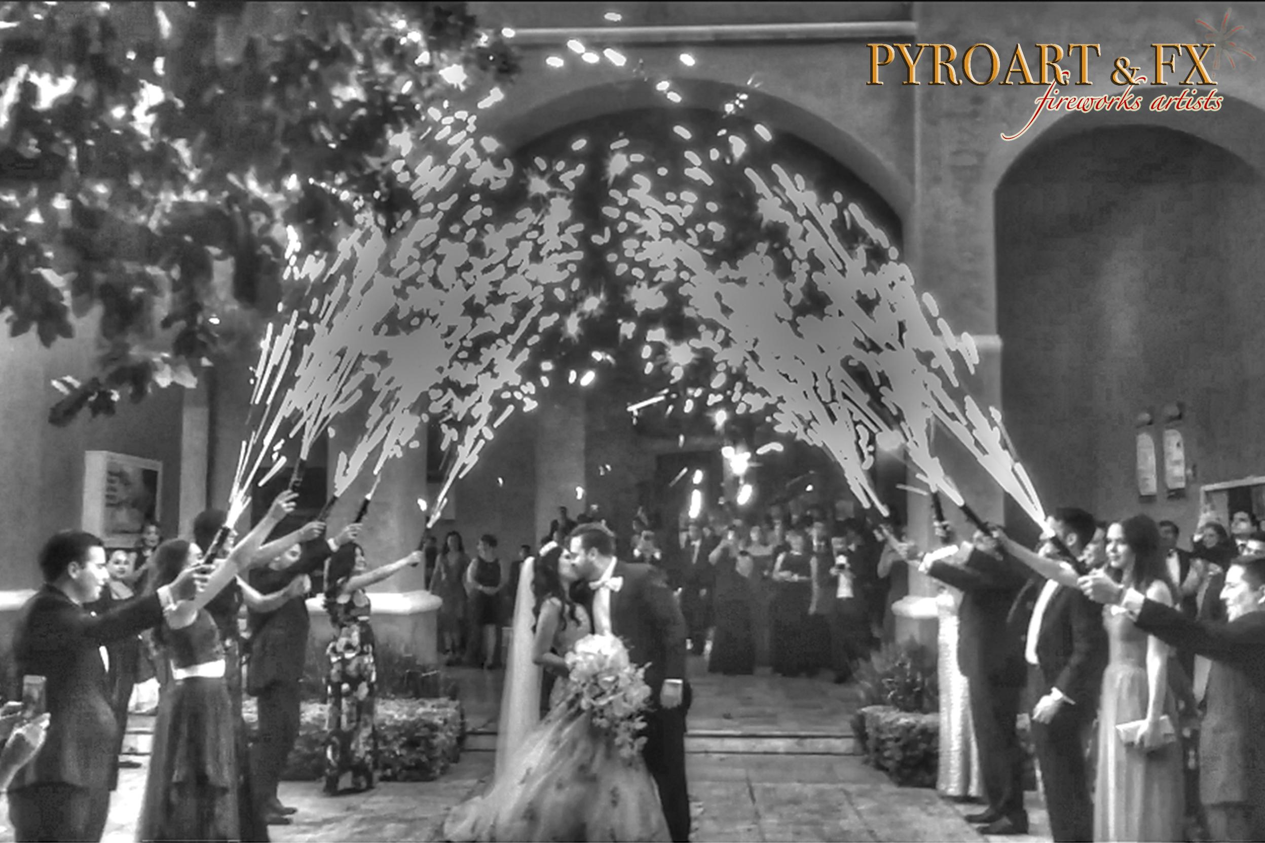 PYROART & FX - CHISPEROS DE MANO REINA D