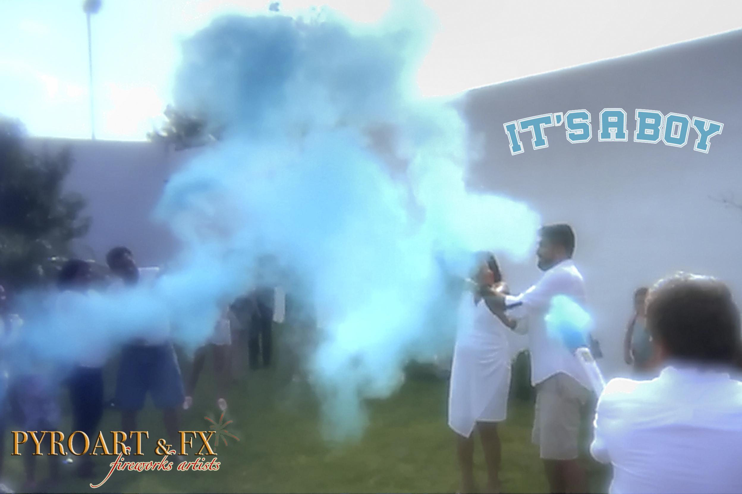 PYROART & FX - HDR POLVO AZUL