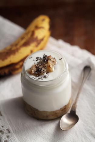 Homemade banana yogurt!