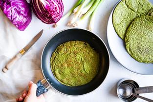 Panquecas Verdes (vegan&gluten free)