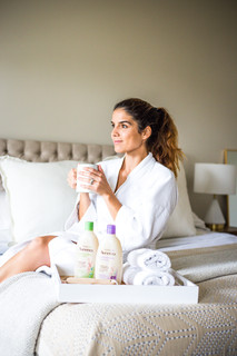I'll trade a breakfast in bed for a shower with AVEENO®