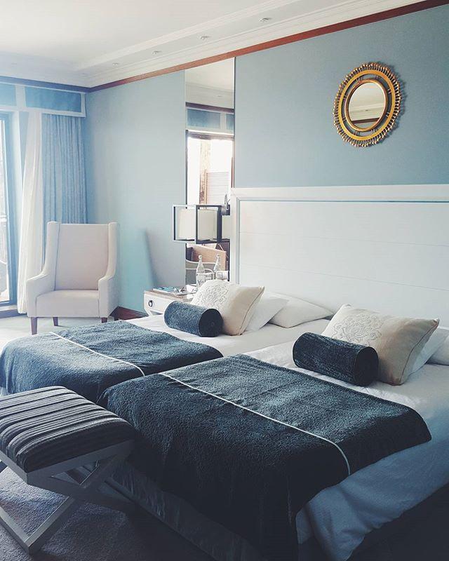 Beautiful bedroom at #hotelgranderealvillaitália #cascais #portugal #hotel #travel