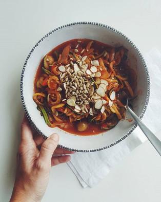 Vegan lowcarb noodles