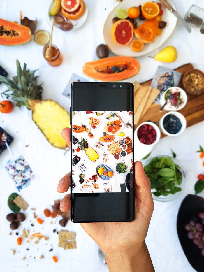 STYLE UP YOUR FOOD BY SAMSUNG GALAXY NOTE 8
