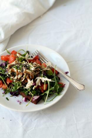 Chicken salad toast