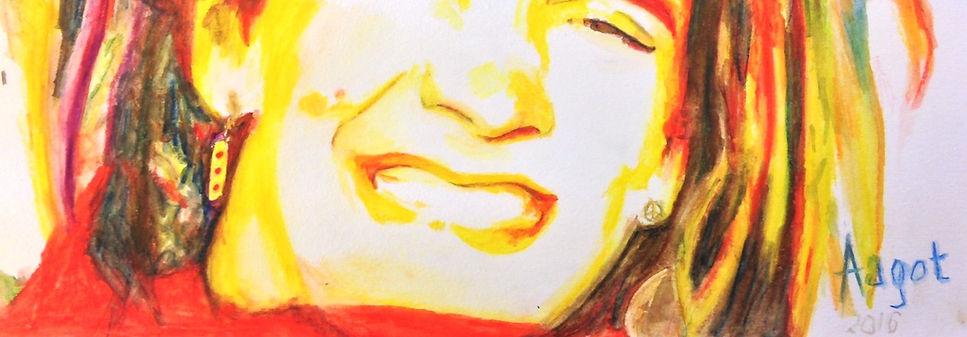 Selfie drawing of AAGOT☀️ detail