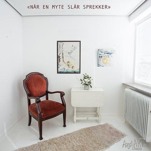 """""""NÅR EN MYTE SLÅR SPREKKER"""" (2 paintings)"""