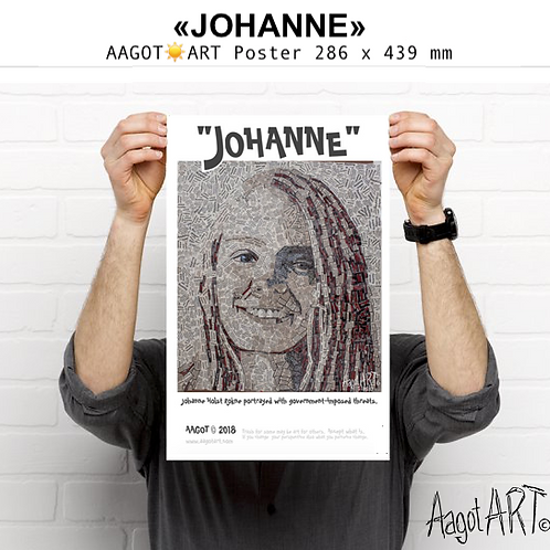 """Poster """"JOHANNE"""" (with text)"""