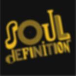 Soul definition logo (black background).