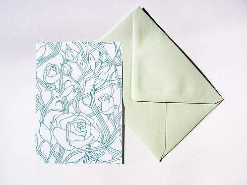Carte fleurs green