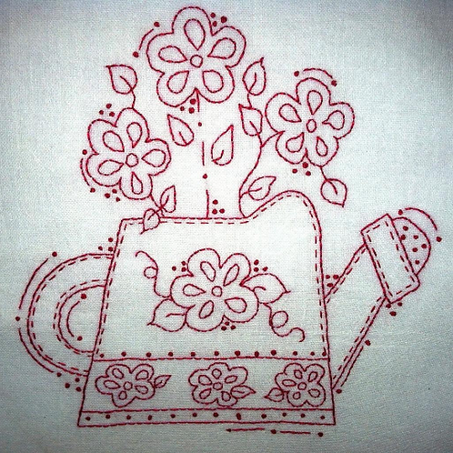 Lots of Flowers Watering Can Pattern