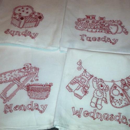 Busy Week Dish Towel Pattern