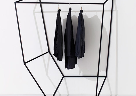 Faceted Apparel Fixtures