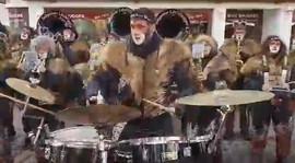 Schlagzeuger in Fahrt