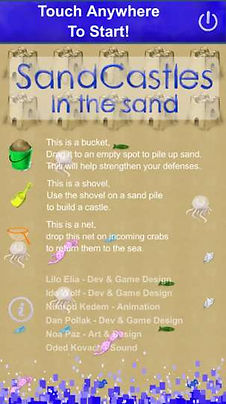 SandCastles In The Sand - Welcome Screen