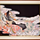 Thumbnail: Hand Made Vintage Silk Kimono in Hand Crafted Frame