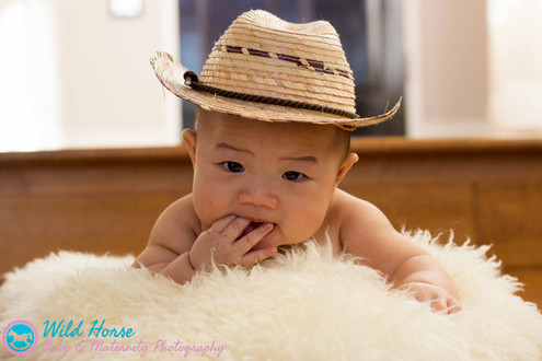 Lil Cowboy baby photos WH Baby Maternity photography