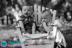 happy bothers twins photo session