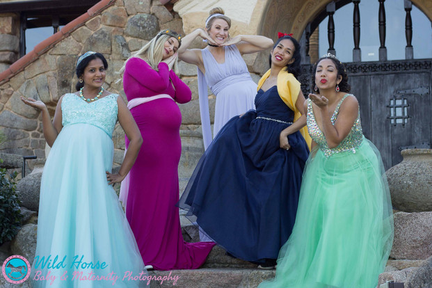 Disney Princesses Maternity edition photos - in character