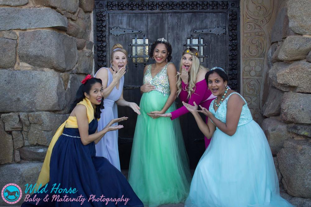 Princess Tiana maternity photoshoot