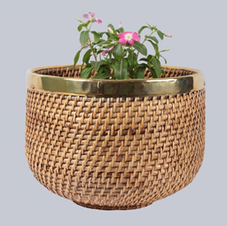 Cane flower pot