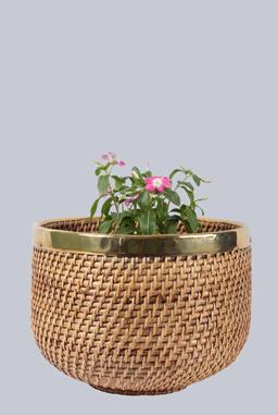 Cane flower pot