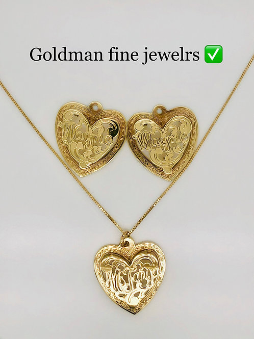 Heart shape Monogram set size nickle (Picture doesn't reflect the actual size)