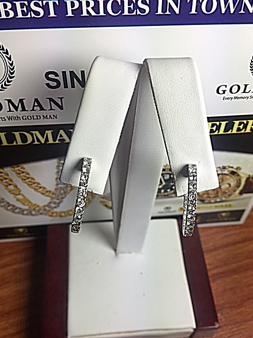 10k-WG 1.50ct Dual Side Diamond Ladies Hoop Earrings#300861. Online Offer Only
