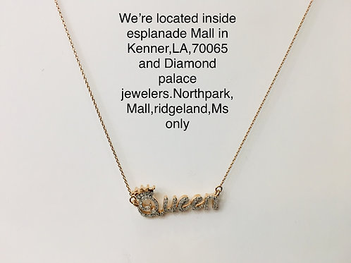 10k rose gold 0.15ct diamond ladies pendant
