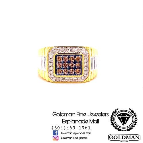 10K YELLOW GOLD 0.50CT DIAMOND MENS RING ON SALE