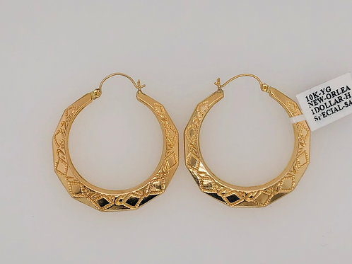 10K SOLID GOLD 1$ SIZE NEW ORLEANS HOOPS5