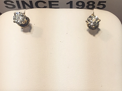14k-YG 0.50ct Diamonds Stud Earrings # 301832.       Online Offer Only