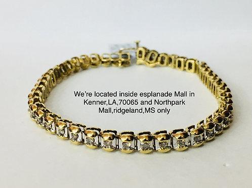 10K YELLOW GOLD 2.25CT DIAMOND FEMALE BRACELET